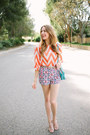Chevron-orange-francescas-collections-shirt