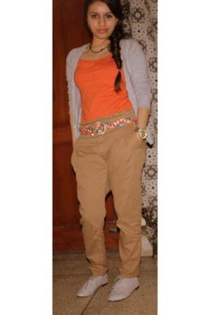 Zara pants - Forever21 belt - Zara cardigan