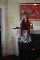 H&M scarf - Inwear top - Gap skirt - coach belt - Prada shoes