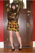 American Apparel jacket - vintage skirt - vintage shoes