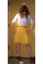 American Eagle blouse - thrifted skirt - vintage belt - vintage - thrifted - vua