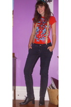 Wet Seal t-shirt - - Old Navy jeans - hillard & hanson shoes - f21