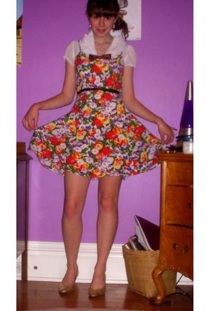 dress - forever 21 blouse - vintage -