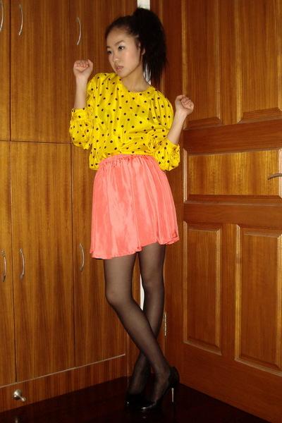 vintage shirt - vintage blouse - back seam American Apparel stockings