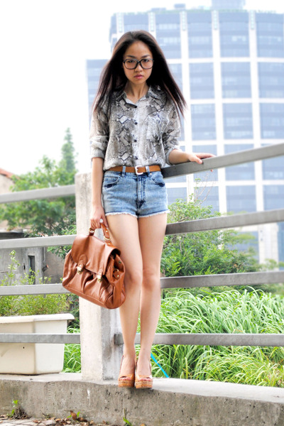 Zara shirt - shorts - H&M belt - shoes