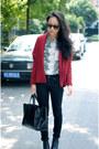 Snakeskin-zara-shirt-burgundy-cardigan