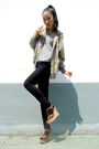 Jacket-sweater-american-apparel-jeans-shoes