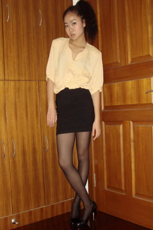 vintage shirt - H&amp;M skirt - American Apparel tights