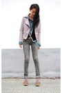 Silver-vintage-jacket-heather-gray-levis-jeans-turquoise-blue-vintage-shirt