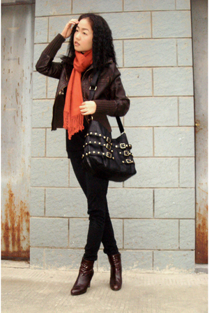 scarf - jacket - H&M jeans - shoes