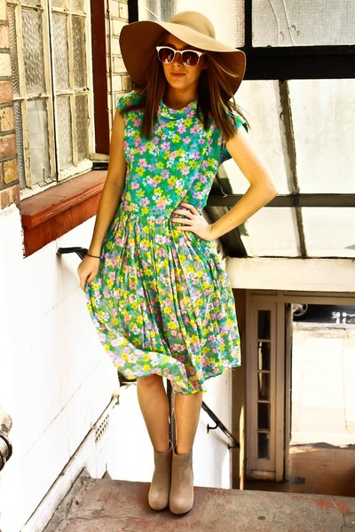janewithlouise dress - asos boots - H&M hat