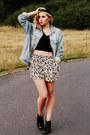 Black-jeffrey-campbell-shoes-light-blue-asos-jacket-tan-asos-shorts