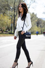 black PROENZA SCHOULER bag - white Helmut Lang jacket