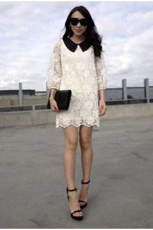 white storets dress - black 31 Phillip Lim sandals