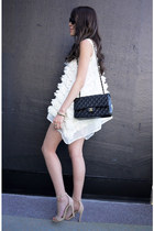 ivory Style Nanda top - black Chanel bag - black Celine sunglasses