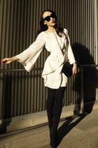 black patent Yves Saint Laurent bag - neutral Forever New dress