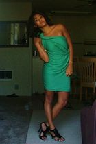 green H&M dress - black TJ Maxx shoes