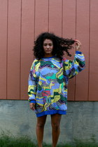 blue reversible The Salvation Army sweater