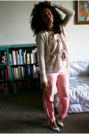 beige Goodwill sweater - peach Goodwill blouse - light pink Goodwill pants
