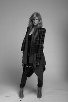 black barila blazer - gray Rudsak vest - black barila dress - black barila leggi