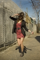 Urban Outfitters jacket - French Connection dress - Zara belt - wwwchiccane com