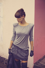 Black-zara-jacket-gray-zara-top-gray-zara-skirt-black-zara-boots-silver-