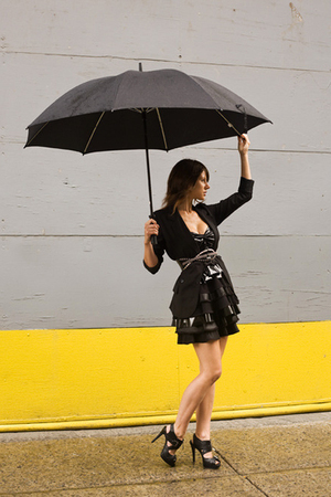 Urban Outfitters blazer - Travis Taddeo dress - Zara belt - Aldo shoes