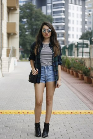 Sheinside shirt - hm bag - asos shorts