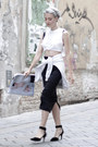 White-neoprene-caseable-bag-black-suede-choies-heels