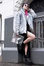 Black-homies-ebay-hat-periwinkle-vintage-jacket-white-bershka-bag