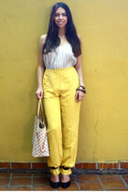 Forever 21 heels - Louis Vuitton bag - Zara pants - H&M top