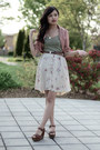 Dusty-rose-forever-21-blazer-vintage-floral-thrifted-skirt-skirt