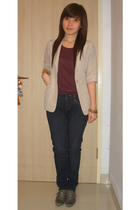 blazer - shirt - jeans - shoes - bracelet