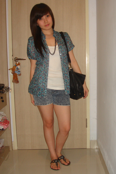 shirt - pull&bear shirt - Gaudi shorts - Zara - Forever 21 necklace