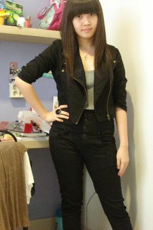 no brand jacket - Mango shirt - no brand jeans - diva accessories
