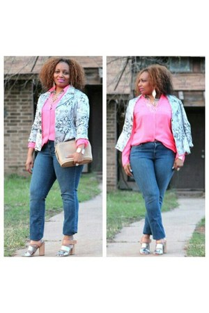 thrifted blazer - sam edelman shoes - ann taylor jeans