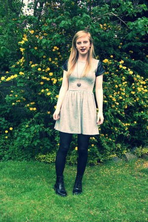 Topshop boots - new look dress - Dorothy Perkins necklace