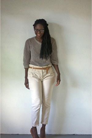 sweater - Zara pants - Steve Madden heels