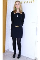 H&M jacket - vintage dress - vitnage belt - Deichmann shoes - Bijou Brigitte acc
