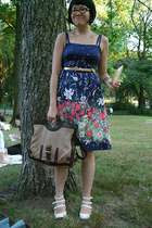 vintage dress - Judi Rosen belt - Jeffrey Campbell shoes - LAMB purse