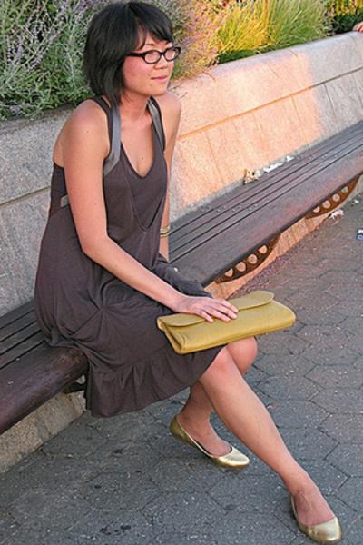 development by erica davies dress - vintage wallet - Dolce Vita shoes - H&M brac
