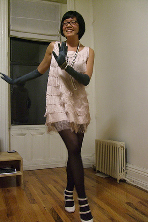 black fishnet tights - white Jeffrey Campbell shoes