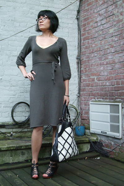 French Connection dress - calypso intimate - Jeffrey Campbell shoes - Anna Corin