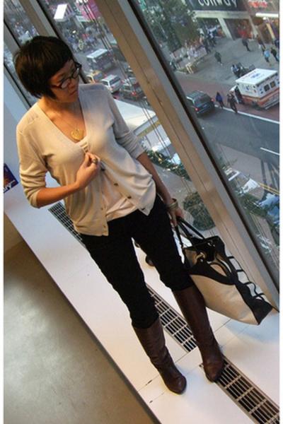 mint by jodi arnold sweater - H&M top - joes pants - vintage shoes