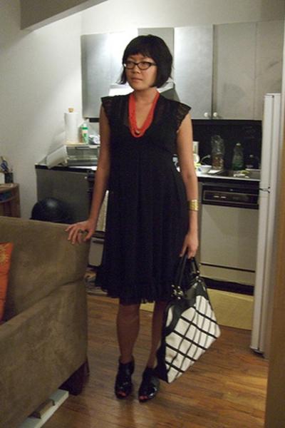 f21 dress - necklace - Anna Corinna purse - f21 shoes