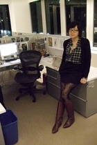Uniqlo sweater - lark & wolf shirt - Uniqlo skirt - H&M tights - Made Her Think