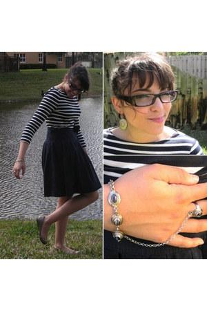 wrap skirt Gap skirt - dangly InPink earrings - Michael Kors top