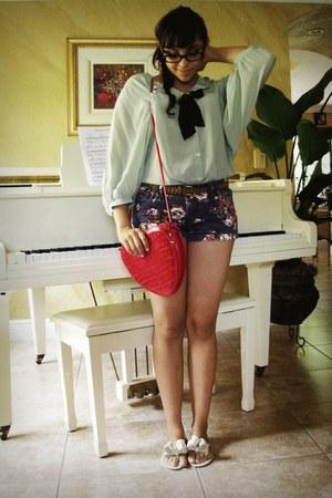 hot pink heart shaped Maxima purse - navy floral Target shorts