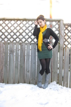 gold Suzy Shier scarf - black Smart Set cardigan - green Charlotte Russe dress -