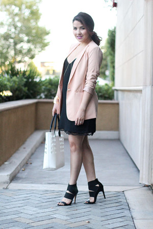 Forever 21 blazer - Forever 21 dress - Nordstrom bag - Sole Society heels